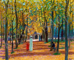 Csejtei Joachim Ferenc - Séta a parkban, 1913