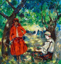 Csók István - Lányok a kertben