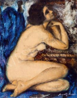 Feszty, Masa - Female Nude (The Blue Drapery)