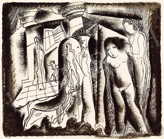 Kádár Béla - Art deco jelenet | 52. Tavaszi Aukció aukció / 20 tétel