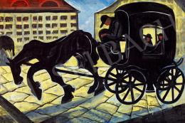 Scheiber, Hugó - Horse Carriage (Evening Lights), 1930s