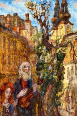 Szabó Vladimir - Az öreg muszikus (A virágba borult fa), 1973 (1911)