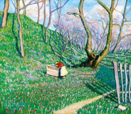 Kádár Géza - Kökörcsinmező (Tavasz Nagybányán), 1912