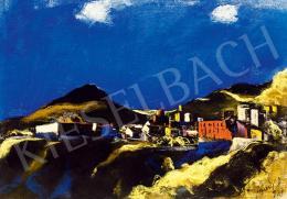 Jándi Dávid - Dél-olasz táj (Kék ég), 1928
