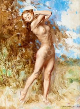 Karlovszky, Bertalan - Nude in Open-Air (Swing)