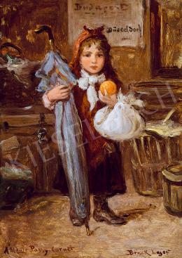 Bruck Lajos - Kislány naranccsal