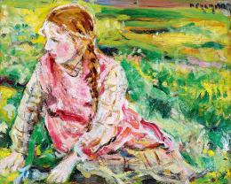 Perlmutter Izsák - Kislány a domboldalon
