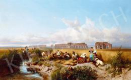 Markó, András - Landscape in Rome, 1872