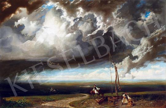 Telepy Károly - Vihar a pusztán, 1846 | 52. Tavaszi Aukció aukció / 83 tétel