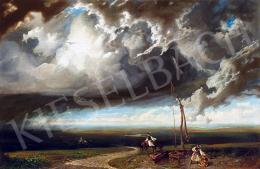 Telepy Károly - Vihar a pusztán, 1846