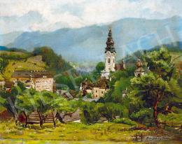 Brodszky Sándor - Selmecbánya látképe (Banská Stiavnica)