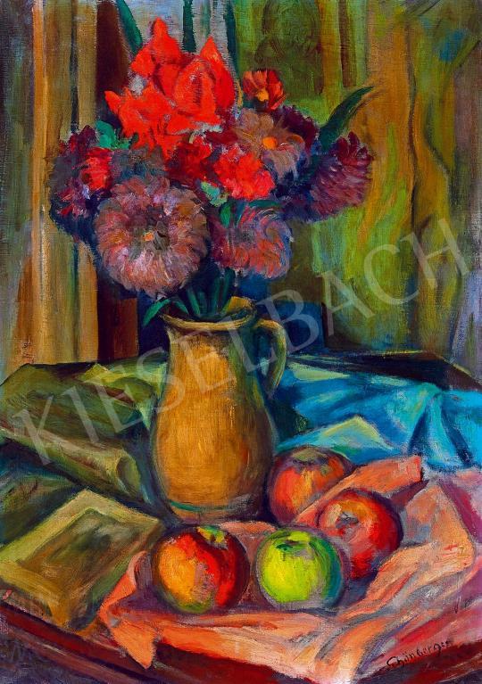 Schönberger Armand - Csendélet könyvvel és almákkal | 52. Tavaszi Aukció aukció / 97 tétel