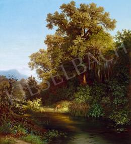Brodszky Sándor - Vadlesen (Őz a folyóparton), 1855