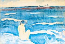 Czigány Dezső - Női akt vízparton