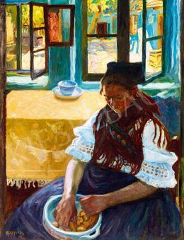 Perlmutter Izsák - Szobában (Ablak előtt), 1908