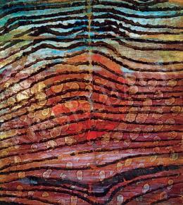 Gyarmathy Tihamér - Áttűnő vörös kör, 1964