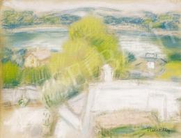 Kmetty János - Szentendrei Szamárhegy háttérben a Dunával