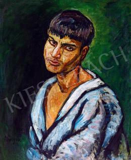 Pór Bertalan - Kék inges fiú (Cigány fiúő), 1910