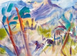 Márffy, Ödön - Horses in Landscape (Spring)