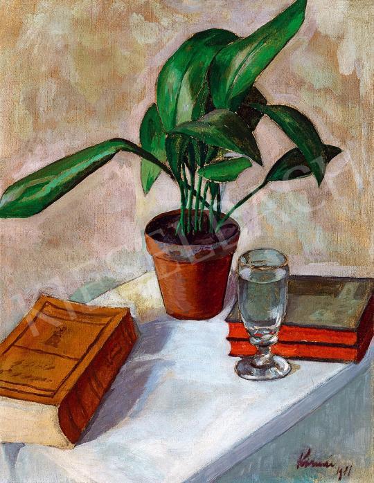 Kornai József - Csendélet könvekkel, 1911 | 52. Tavaszi Aukció aukció / 132 tétel