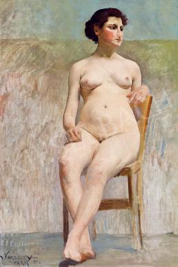 Vaszary János - Párizsi modell, 1894