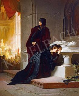 Liezen-Mayer Sándor - Mária királynő és arnyja, Erzsébet Nagy Lajos király sírjánál, 1864