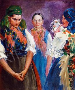 Vaszary János - Lányok népviseletben, 1930 körül