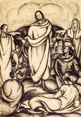 Bortnyik Sándor - Hegyibeszéd, 1917