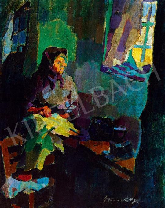 Nagy, Oszkár - The Artist's Mother in the Studio in Nagybánya | 52nd Spring Auction auction / 167 Lot