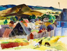 Aba-Novák, Vilmos - Transsylvanian Landscape (Zsögöd), 1935