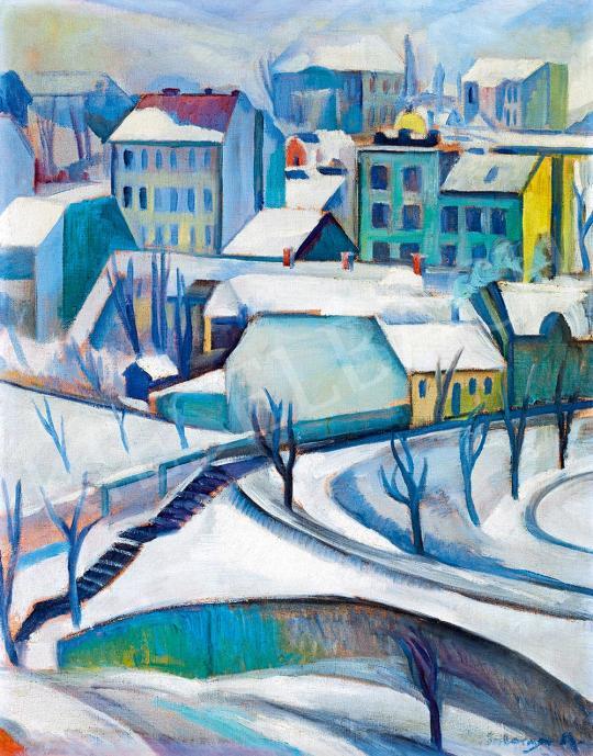 Schönberger Armand - Téli város (Rózsadomb) | 52. Tavaszi Aukció aukció / 211 tétel