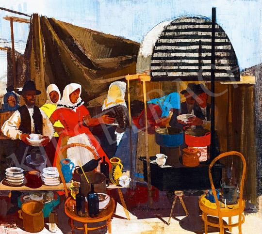 Aba-Novák, Vilmos - Barbecue in the Fair, 1934 | 52nd Spring Auction auction / 212 Item