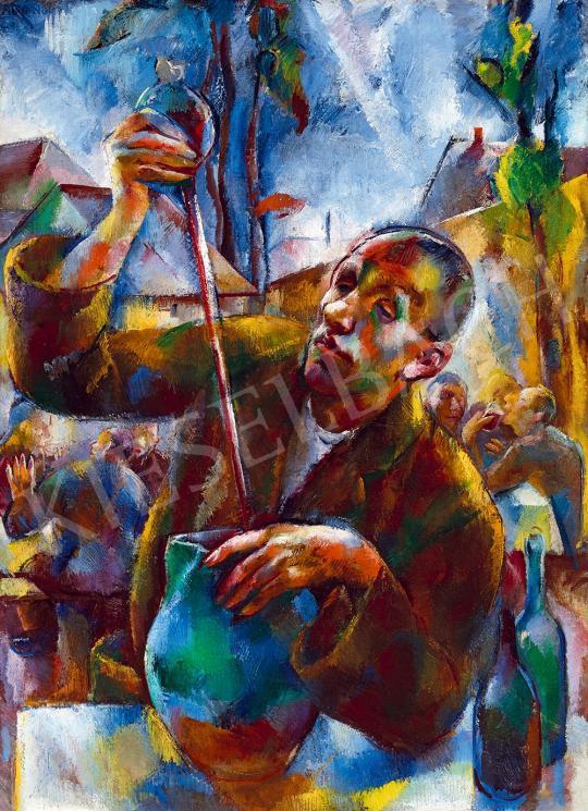 Aba-Novák Vilmos - Kertvendéglő (Szüret), 1925 körül | 52. Tavaszi Aukció aukció / 233 tétel