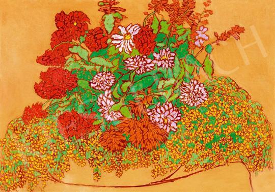 Rippl-Rónai József - Stilizált virágok özöne, 1914 | 52. Tavaszi Aukció aukció / 234 tétel