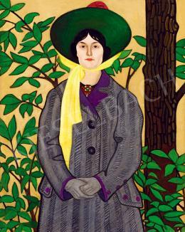 Remsey Jenő György - Nő portré (Remsey Gizella színésznö), 1909 előtt