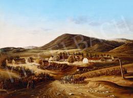Ismeretlen festő, 1850 körül - Majorság (Indulás a vásárba)