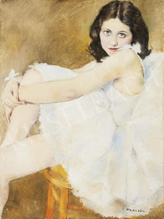 Eladó  Fried Pál - Balerina fehér ruhában festménye