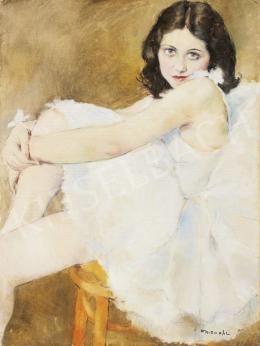 Fried Pál - Balerina fehér ruhában