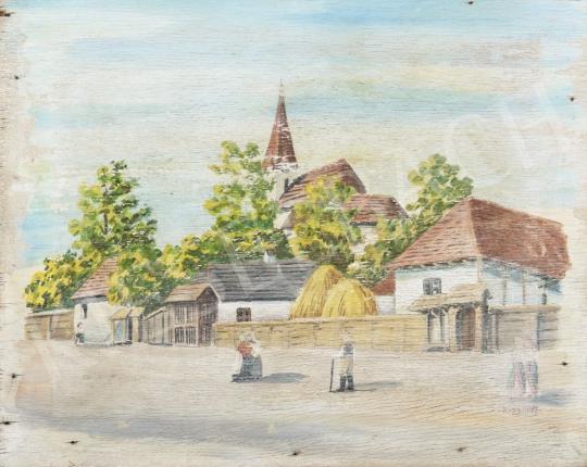 Eladó Kiss Károly - Erdélyi falu, 1937 festménye