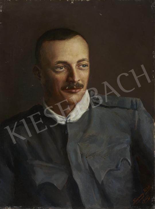 Eladó  Ferenczy Valér - Bajuszos férfiportré, 1915 festménye
