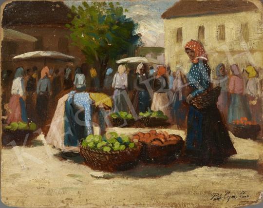 Eladó  Pállya Carolus - Piac, 1930 körül festménye