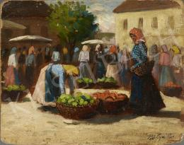 Pállya, Carolus - Market, c. 1930