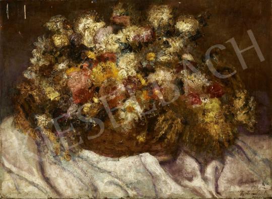 Porter Paula - Virágcsendélet, 1921 festménye