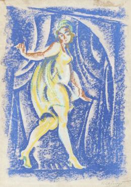 Kubinyi Sándor - Táncosnő a színpadon