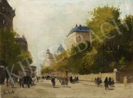 Berkes, Antal - Scene in a Town, c. 1930