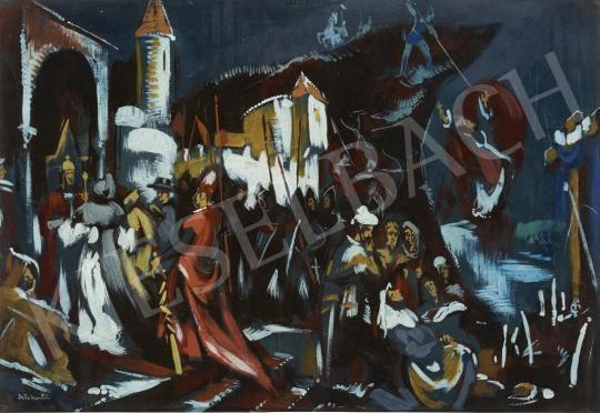 Eladó  Istókovits Kálmán - Szent István követeket fogad festménye