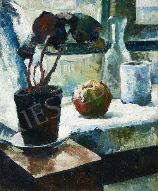 Eladó  Börzsönyi Kollarits Ferenc - Csendélet ablakban festménye