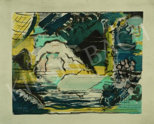 Eladó  Farkas István - Zöld táj festménye