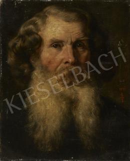Sikorska Zsolnay Júlia - Szakállas férfi portré, 1894