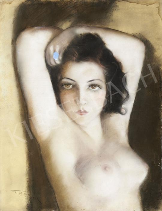 For sale  Fried, Pál - Nude with a Blue-Stony Ring 's painting
